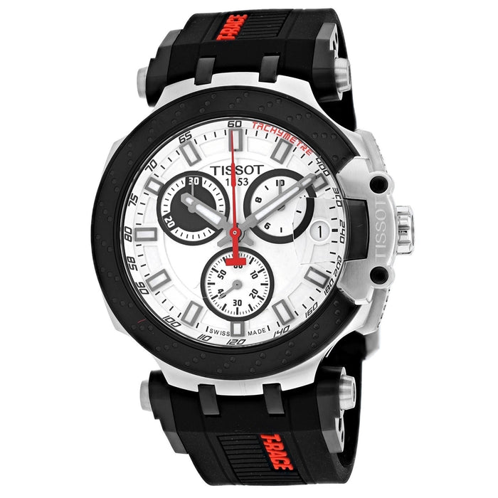 Tissot Men's T1154172701100 T-Race Chronograph Black Silicone Watch