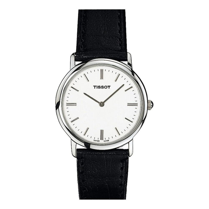 Tissot Women's T57112131 T-Classic Black Leather Watch