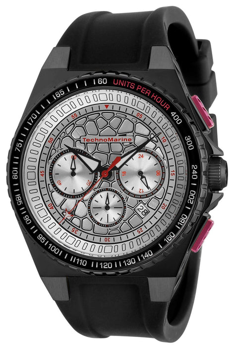 TechnoMarine Men's TM-318072 Black Silicone Watch