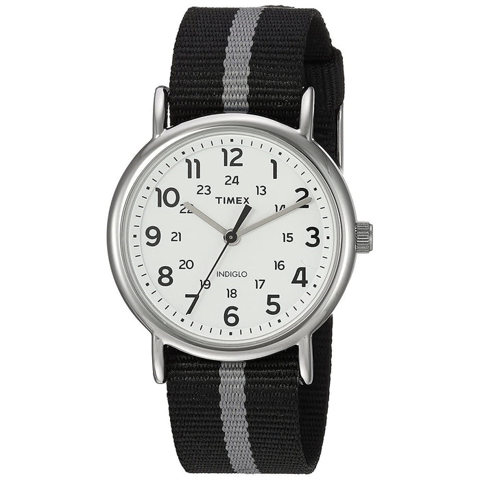 Timex Men's TW2P72200 Weekender Two-Tone Reversible Fabric Watch