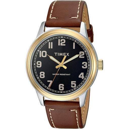 Timex Men's TW2R22900 New England Brown Leather Watch