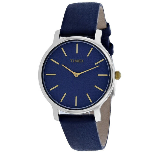 Timex Women's TW2R36300 Skyline Blue Leather Watch