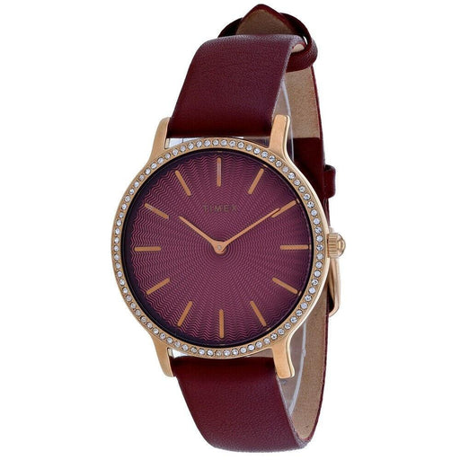 Timex Women's TW2R51100 Metropolitan Starlight Red Leather Watch