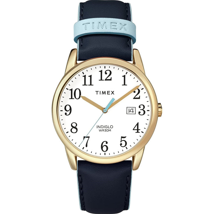 Timex Women's TW2R62600 Easy Rider Blue Leather Watch