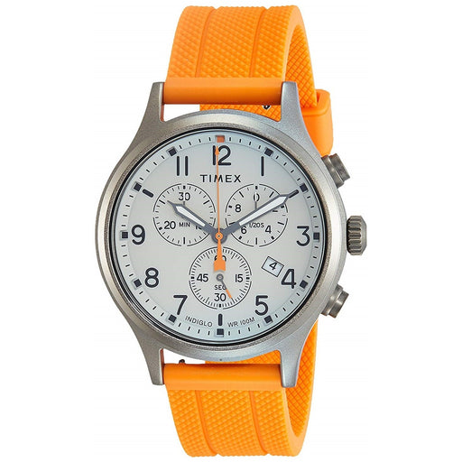 Timex Men's TW2R67300 Allied Chrono Chronograph Orange Silicone Watch
