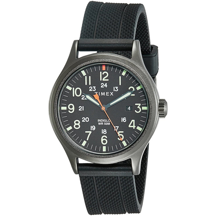 Timex Men's TW2R67500 Allied Black Silicone Watch