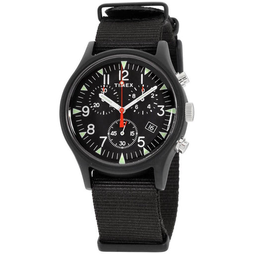 Timex Men's TW2R67700VQ MK1 Chronograph Black Nylon Watch