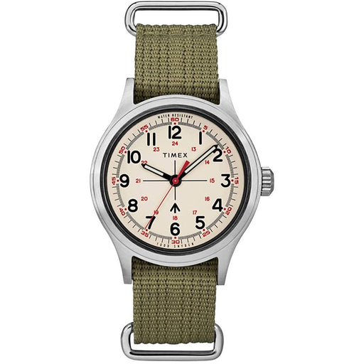 Timex Men's TW2R78800VQ Todd Snyder Military Green Nylon Watch