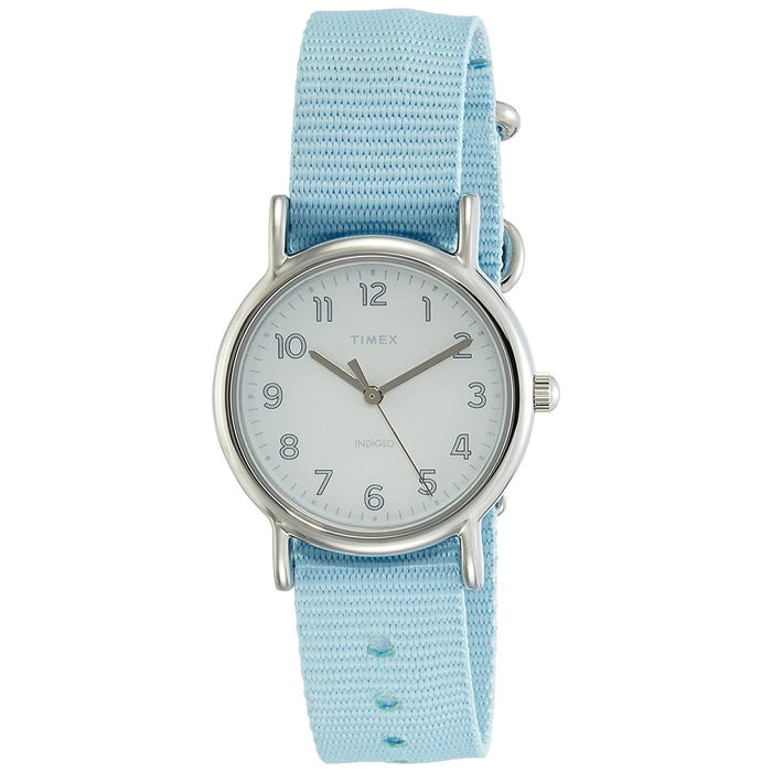 Timex Women's TW2R80600 Weekender Chevron Blue Nylon Watch