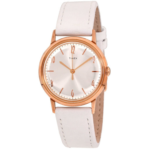 Timex Women's TW2T18300ZV Marlin White Leather Watch