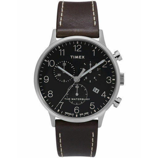 Timex Men's TW2T28200 The Waterbury Classic Brown Leather Watch