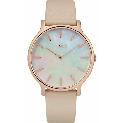 Timex Women's TW2T35300VQ Metropolitan Transcend Pink Leather Watch