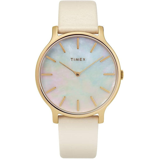 Timex Women's TW2T35400VQ Dress White Leather Watch