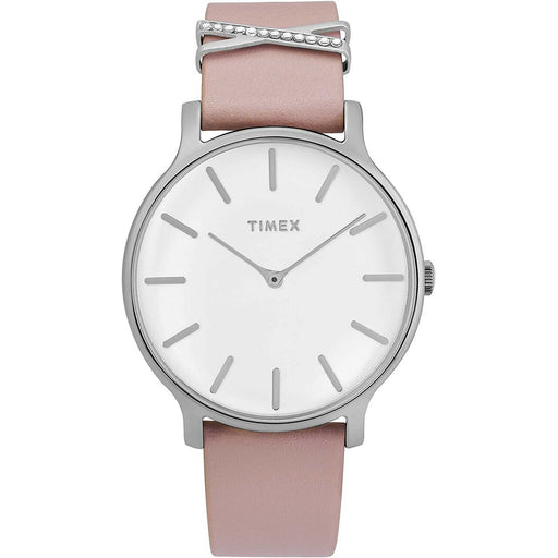 Timex Women's TW2T47900VQ Dress Pink Leather Watch
