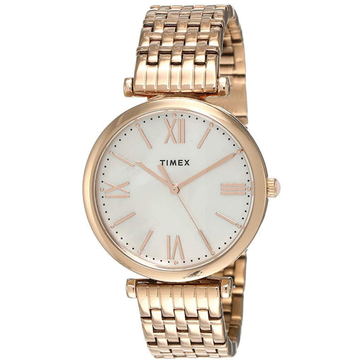 Timex Women's TW2T79200VQ Parisienne Rose Gold-Tone Stainless Steel Watch