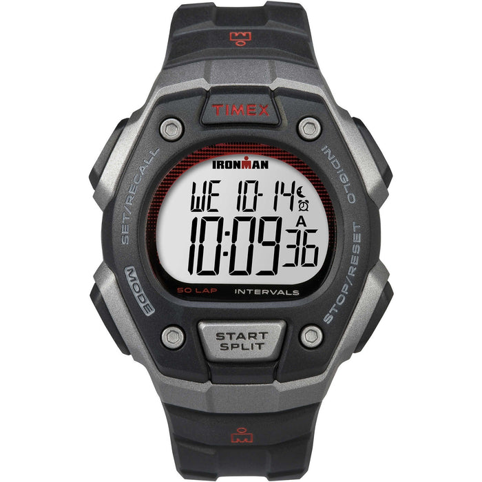 Timex Men's TW5K85900 Ironman Black Resin Watch
