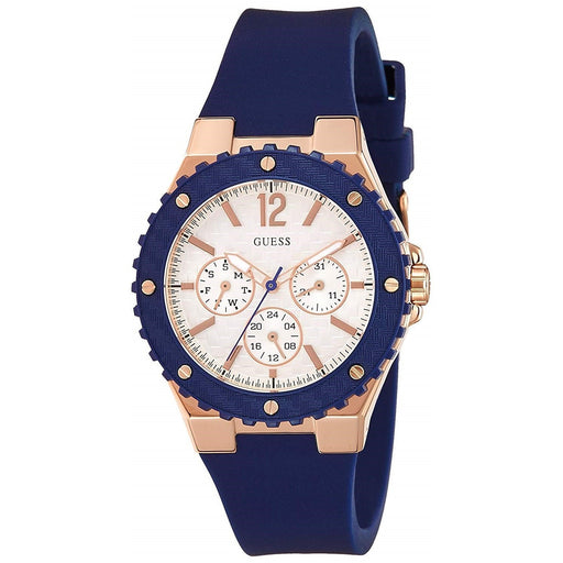 Guess Women's U0149L5 Chronograph Blue Silicone Watch