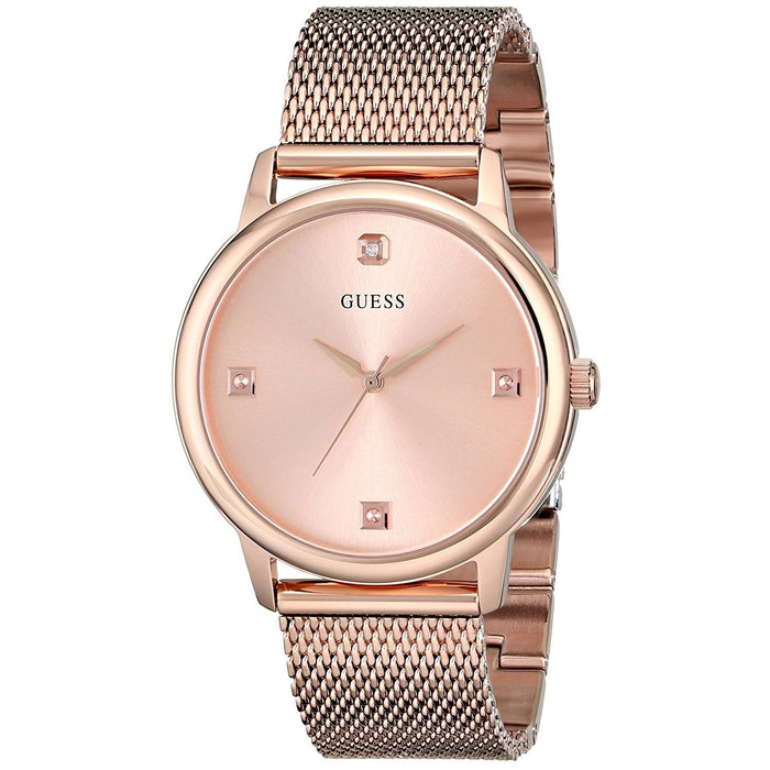 Guess Men's U0280G2 Crystal Rose-Tone Stainless Steel Watch