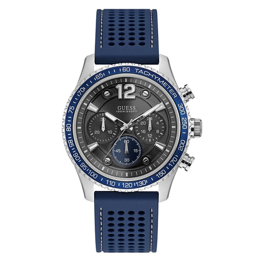 Guess Men's U0971G2 Casual Chronograph Blue Silicone Watch