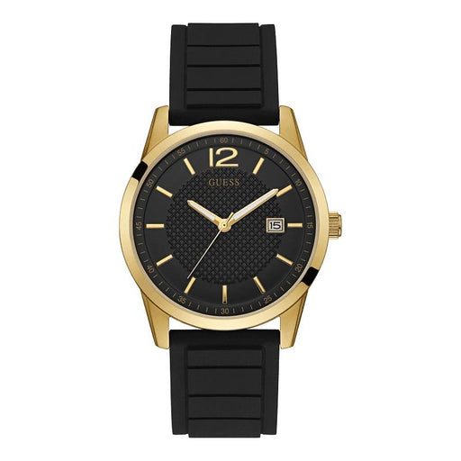 Guess Men's U0991G2 Casual Black Silicone Watch