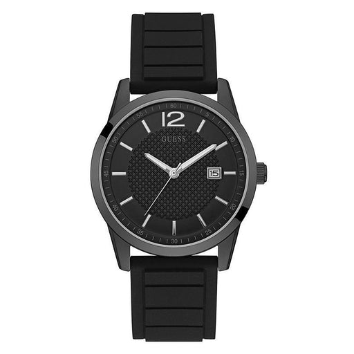 Guess Men's U0991G3 Casual Black Silicone Watch