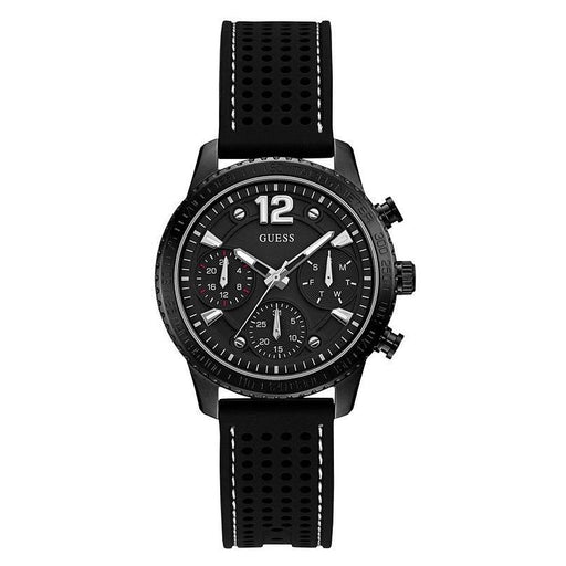 Guess Women's U1025L3 Casual Chronograph Black Silicone Watch