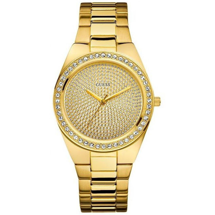 Guess Women's U11055L1 Pixie Crystal Gold-Tone Stainless Steel Watch