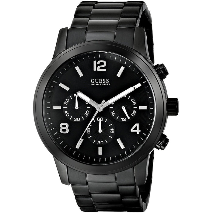 Guess Men's U15061G1 Chronograph Black Stainless Steel Watch