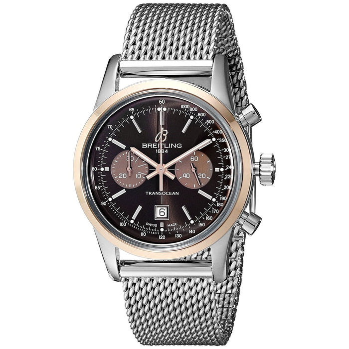Breitling Men's U4131012-Q600 Transocean Automatic Chronograph Stainless Steel Watch