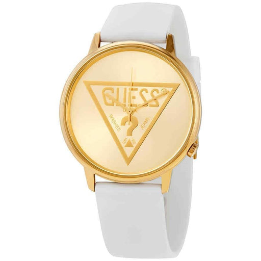 Guess Unisex V1023M1 Classic White Silicone Watch