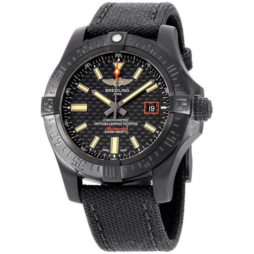 Breitling Men's V173111A-BF91-109W Avenger Blackbird Black Canvas Watch