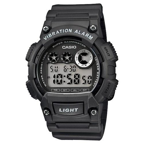 Casio Men's W-735H-1AV Super Illumir Digital Black Rubber Watch