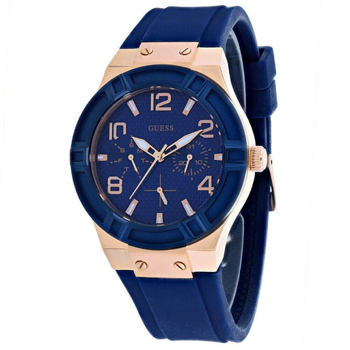 Guess Women's W0571L1 Jet Setter Blue Silicone Watch