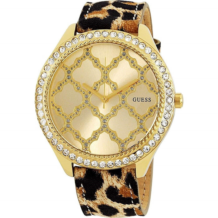 Guess Women's W0579L5 Dress Crystal Yellow Leather Watch