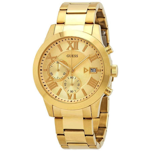 Guess Men's W0668G4 Classic Chronograph Gold-Tone Stainless Steel Watch