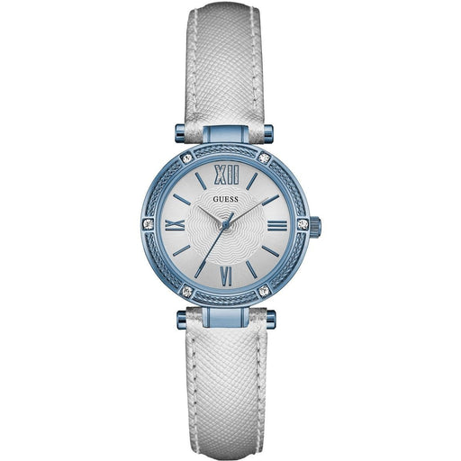 Guess Women's W0838L3 Park Ave Crystal Leather Watch