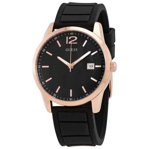 Guess Men's W0991G7 Perry Black Silicone Watch