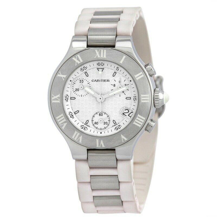 Cartier Men's W10184U2 Must 21 Chronoscaph Chronograph Two-Tone Stainless Steel Watch