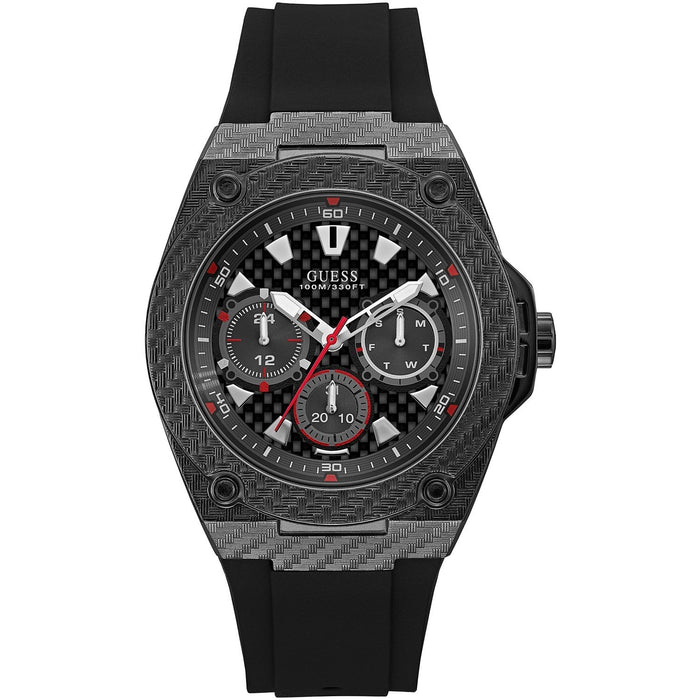 Guess Men's W1048G2 Legacy Black Silicone Watch