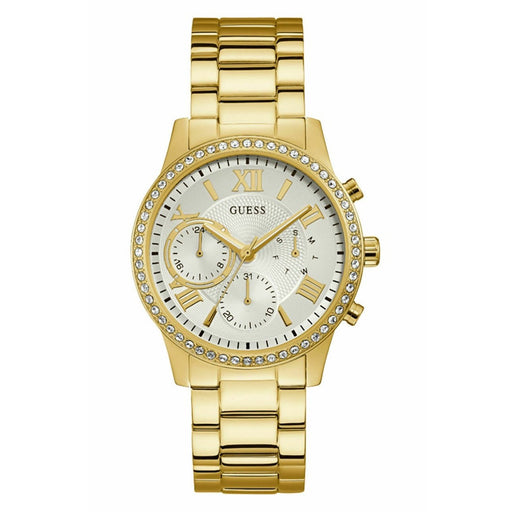 Guess Women's W1069L2 Solar Gold-Tone Stainless Steel Watch