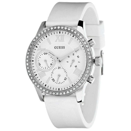 Guess Women's W1135L7 Solar White Silicone Watch