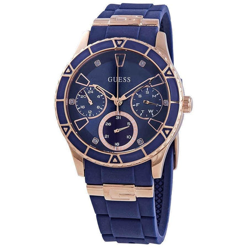 Guess Women's W1157L3 Valencia  Blue Silicone Watch