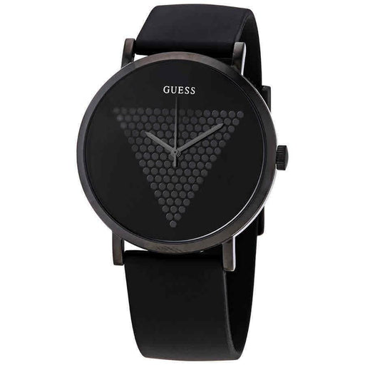 Guess Men's W1161G2 Imprint Black Silicone Watch