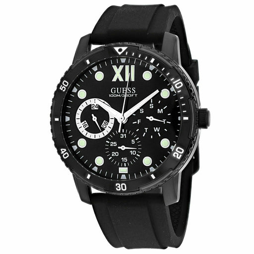 Guess Men's W1174G2 Optimum Black Silicone Watch