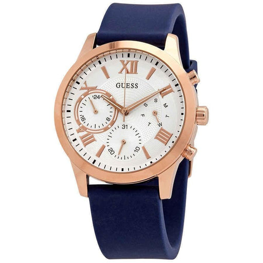 Guess Women's W1265L1 Solar Blue Silicone Watch