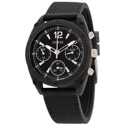 Guess Women's W1296L2 Classic Black Silicone Watch