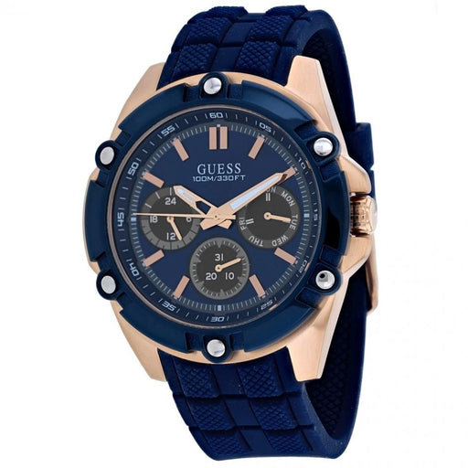 Guess Men's W1302G4 Gents Blue Silicone Watch