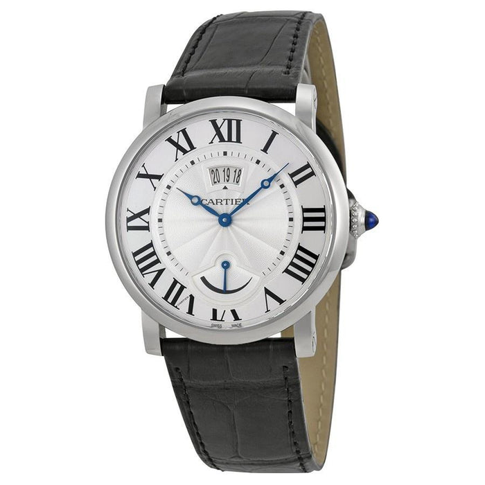 Cartier Men's W1556369 Rotonde Automatic Black Leather Watch