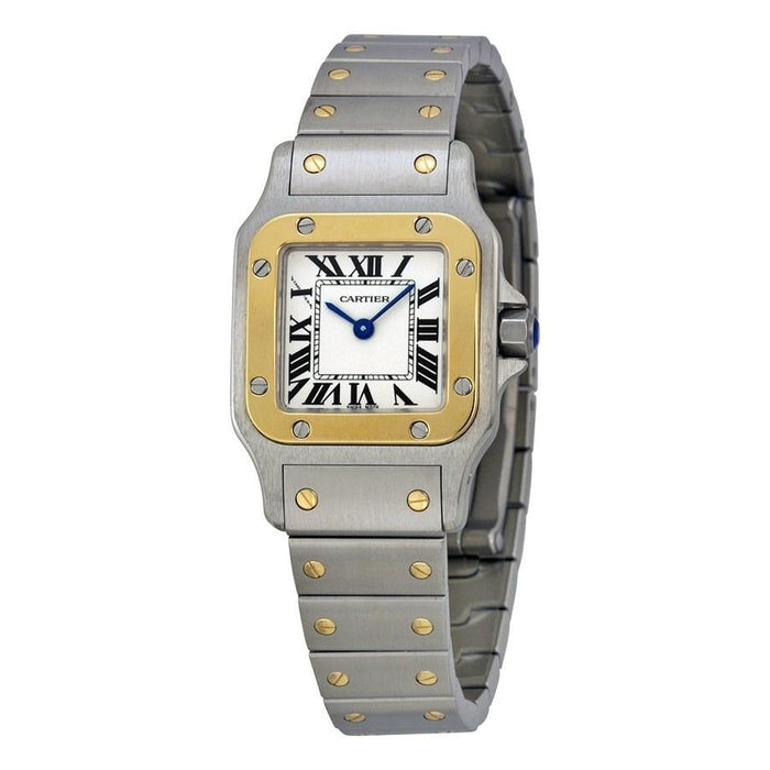 Cartier Women's W20012C4 Santos 18kt Yellow Gold Stainless Steel Watch