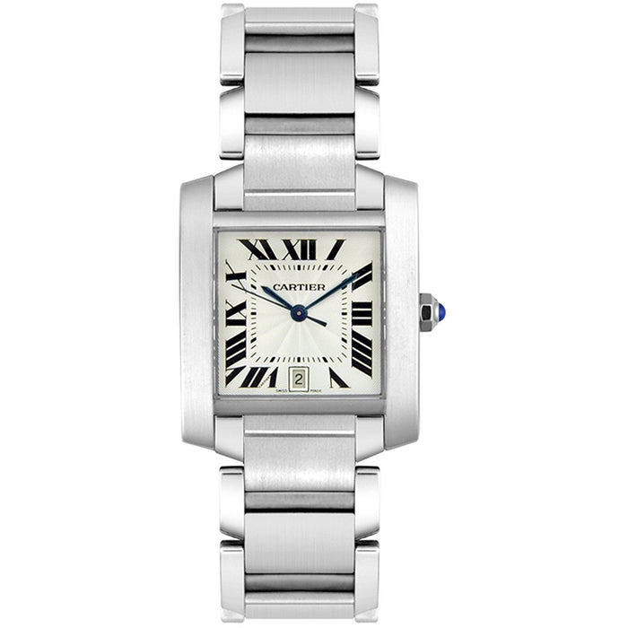 Cartier Men's W51002Q3 Tank Automatic Stainless Steel Watch
